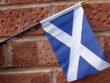 HAND WAVING FLAG (SMALL) - St Andrew Scotland